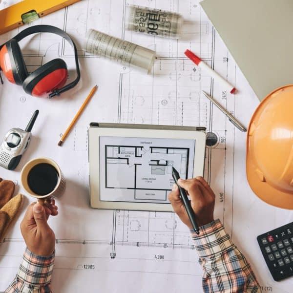 Drawing construction plan