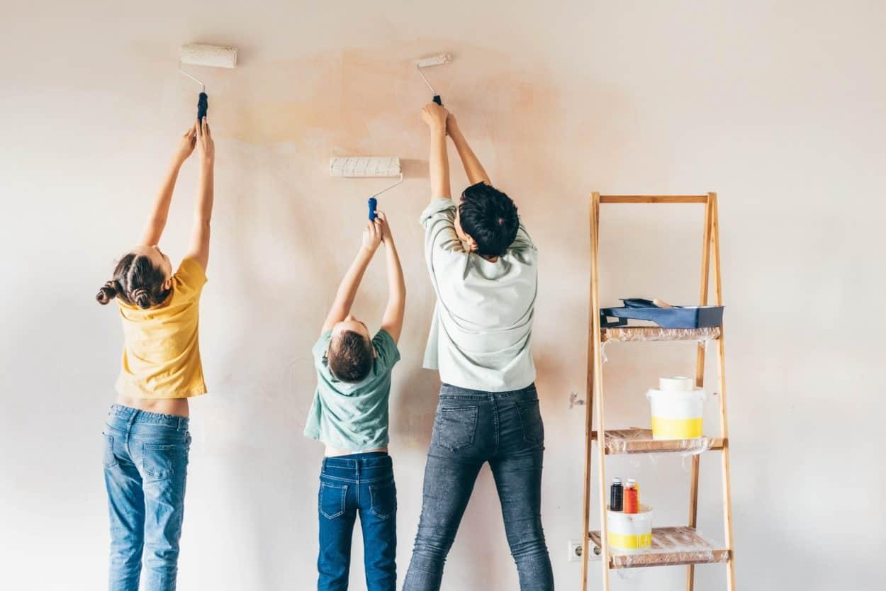 Family renovating home