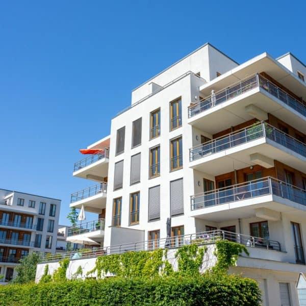 Modern apartment buildings